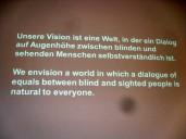 Dialog im Dunkeln 2014-Motto